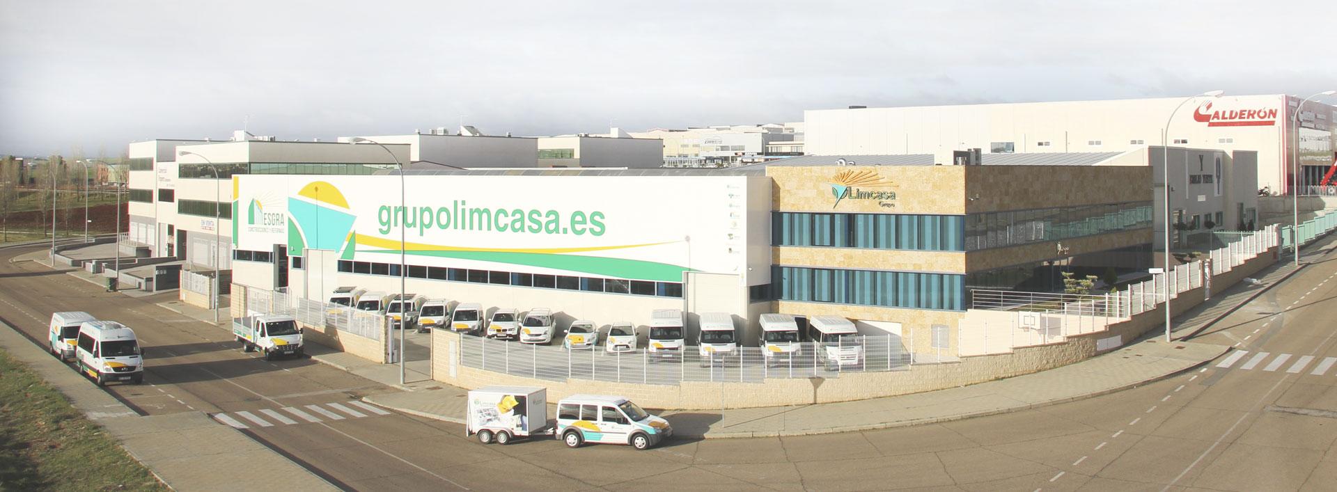 Imagen de la fachada del edificio principal del Grupo Limcasa